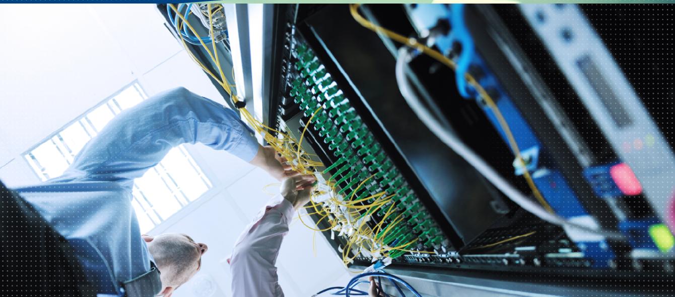 Guy Fixing Network Board